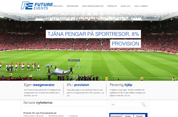 Future Events, affiliate sportresor