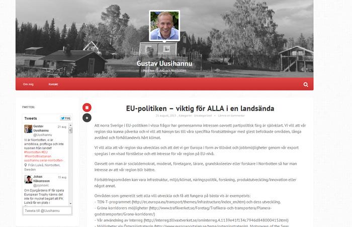 Gustav Uusihannu politiker